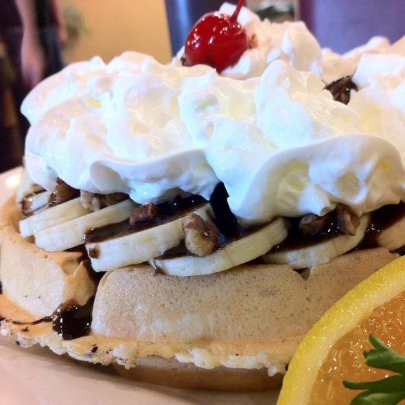 Banana Split Waffle