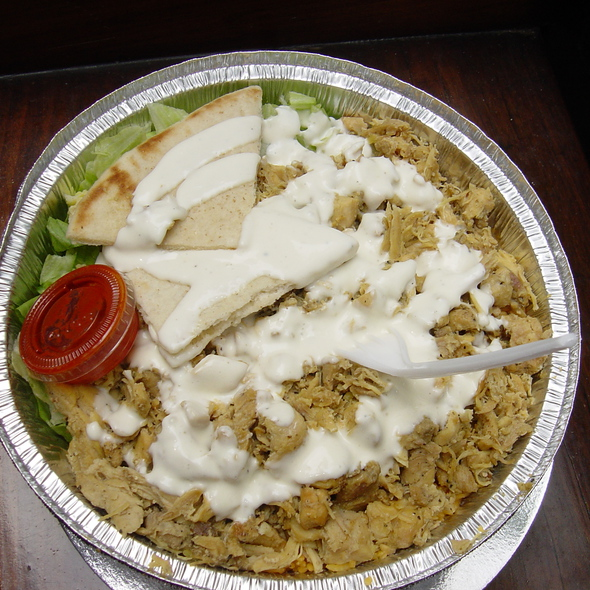 Halal Chicken Over Rice @ 53rd and 6th Halal Cart
