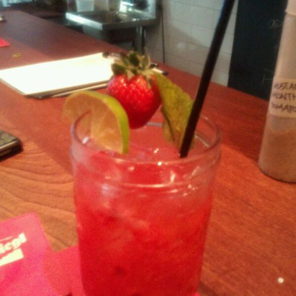 Hand Crushed Strawberry Margaritas @ Der Kommissar