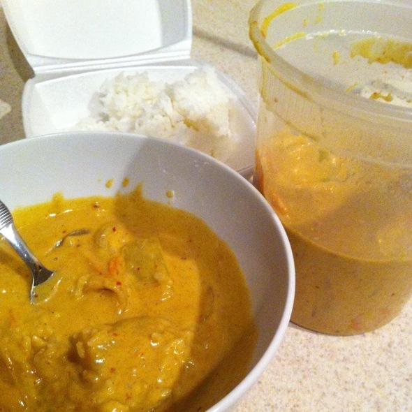 Yellow Curry At Thai Patio In Mesa, Az