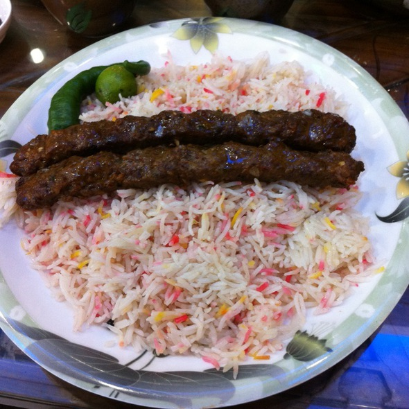 Grilled Lamb Shish Kabab With Mendy Rice