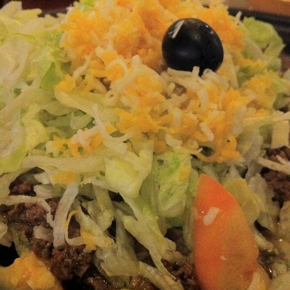 Beef Tostada At Los Olivos Mexican Patio