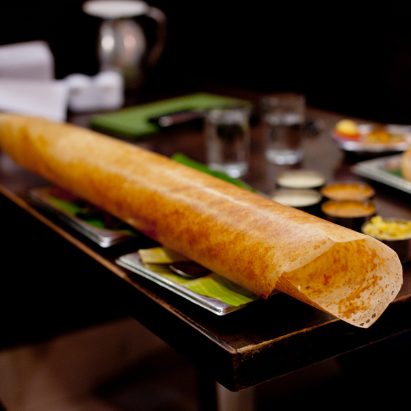 Paper Masala Dosa @ Minerva Coffee Shop