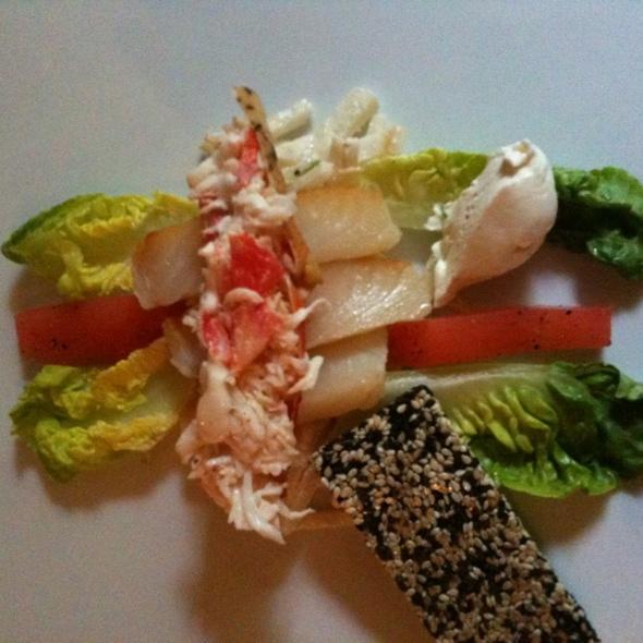 Heilbot met kingcrab & crème van bergamot @ Restaurant Goesting B.V.