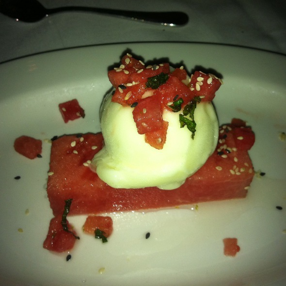 Lemon Sorbrt On Watermelon  @ Butter Restaurant