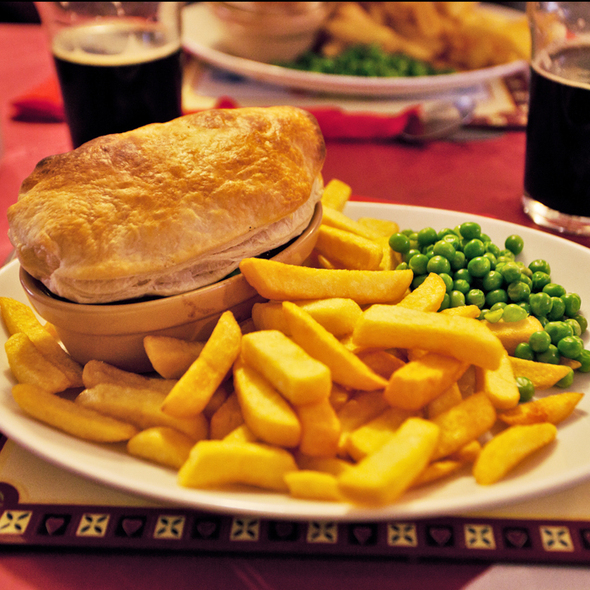 Steak and Ale Pie @ Phoenix Bar & Flames Lounge