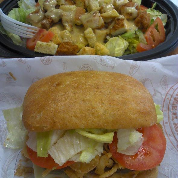 Tendergrill Chicken Sandwich & Tendercrisp Garden Salad @ Burger King