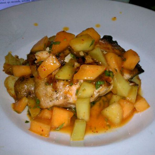 Salmon With Melon Salsa - The Wild Horse Cafe, Beverly, MA