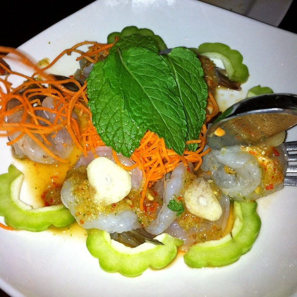 Raw Shrimp And Bitter Melon Salad @ Ayada Thai Restaurant