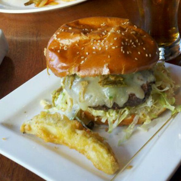 Jalepeno Burger - Tony C's Sports Bar & Grill - Boston, Fenway, Boston, MA