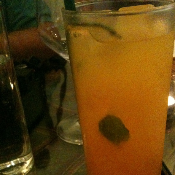 Mango, Mint And Orange Bitters @ lotus farm to table