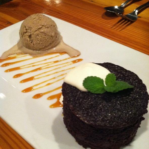 Chocolate Cake With Espresso Ice Cream - Lana Restaurant & Bar, Charleston, SC