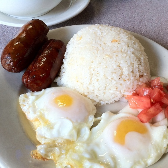 Longganisa With Eggs & Garlic Rice