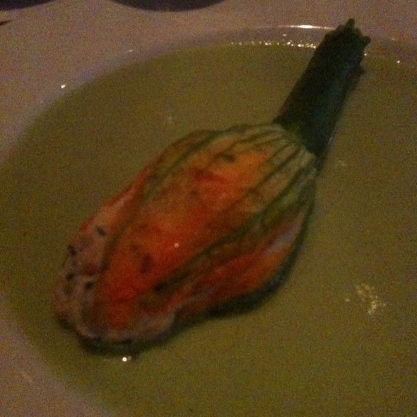 Squash Blossoms Stuffed with Shrimp Mousse @ Slightly North of Broad Restaurant