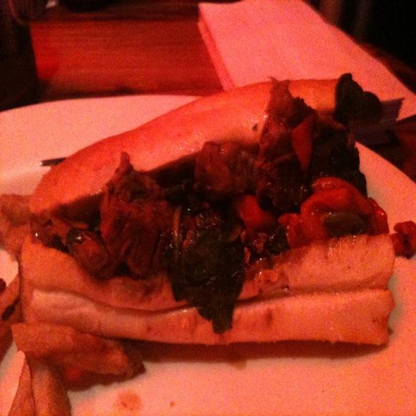 Marinated Flank Steak Sandwich @ Mix Brick Oven Pizzeria & Bar