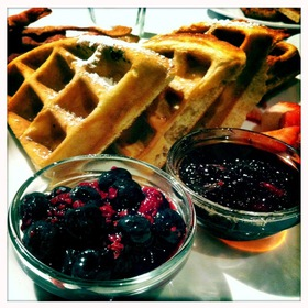 Belgian Waffle With Berries