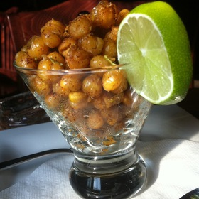 spicy fried chickpeas