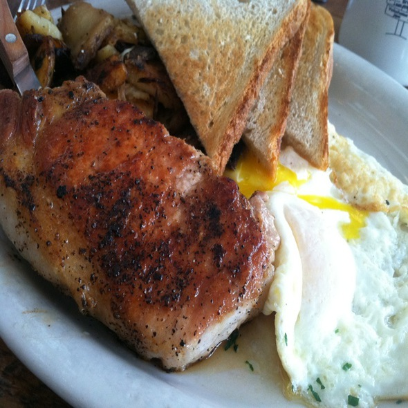 Pork Chop And Eggs @ Bubby's Restaurant Bar-Bakery