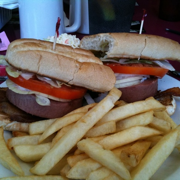 Braunschweiger And Bacon Sub @ The County Seat Cafe