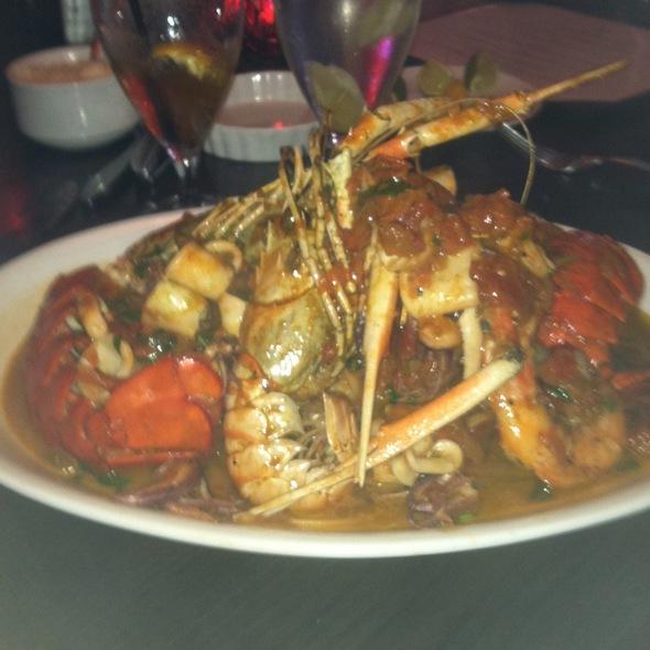 Linguine With Lobster, Calamari, Langoustinos, And Head-On Prawns @ Pazzo LLC