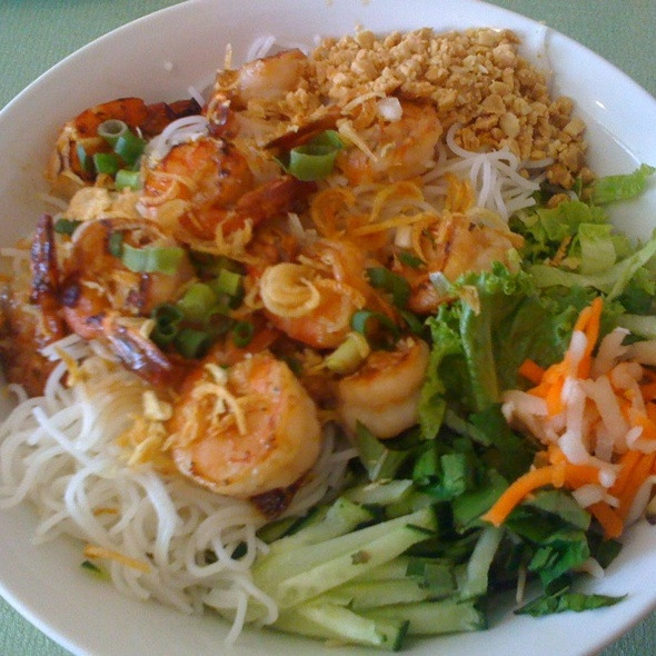 Vermicelli With Grilled Shrimp