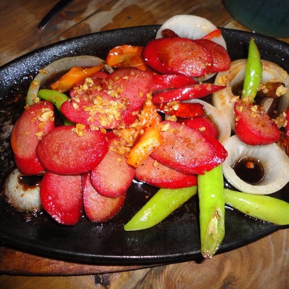 Sizzling Hotdog and Chillies @ Central Bar and Grill