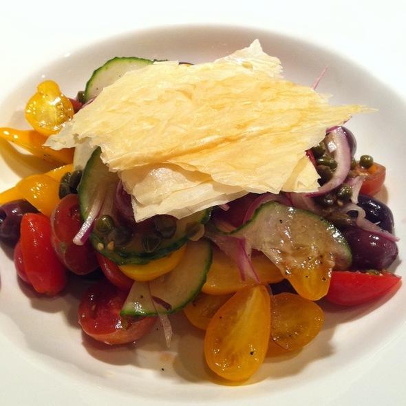 Heirloom Tomato Panzanella Salad - Ariccia Trattoria & Bar, Auburn, AL