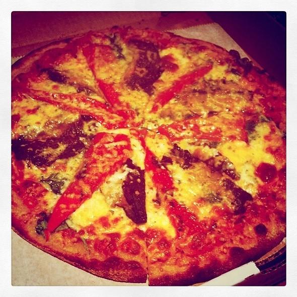 Portabella Mushroom Pizza - Bogart's Bar & Grille, Boca Raton