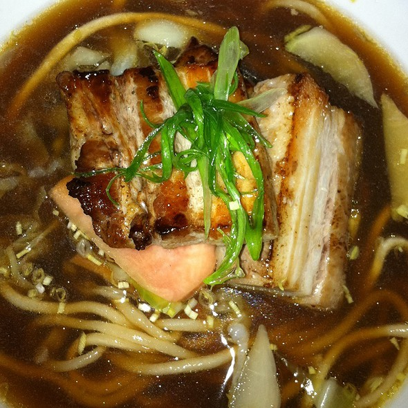 Grilled Pork Belly, Tounge With Hand Pulled Noodles