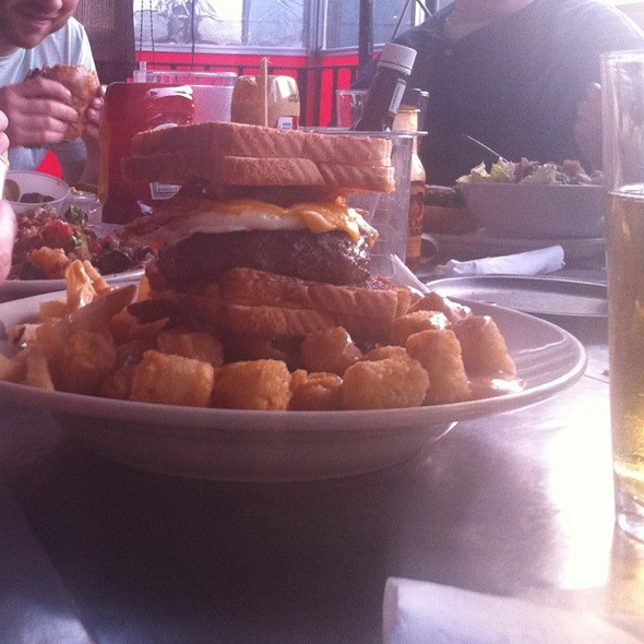 Triple Coronary Bypass Burger @ Vortex Bar & Grill