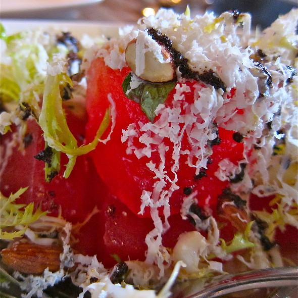 watermelon / ricotta salata / basil/ black olive vinaigrette / almonds - Barbacco, San Francisco, CA