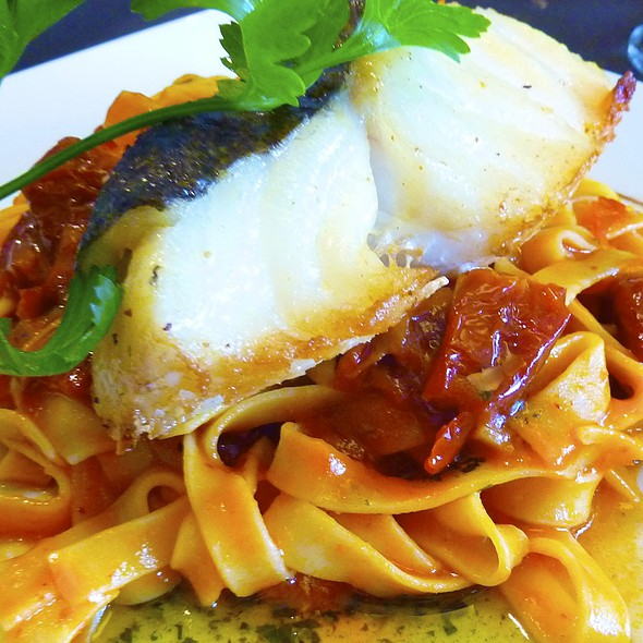 Codfish and Sundried Tomato Pasta