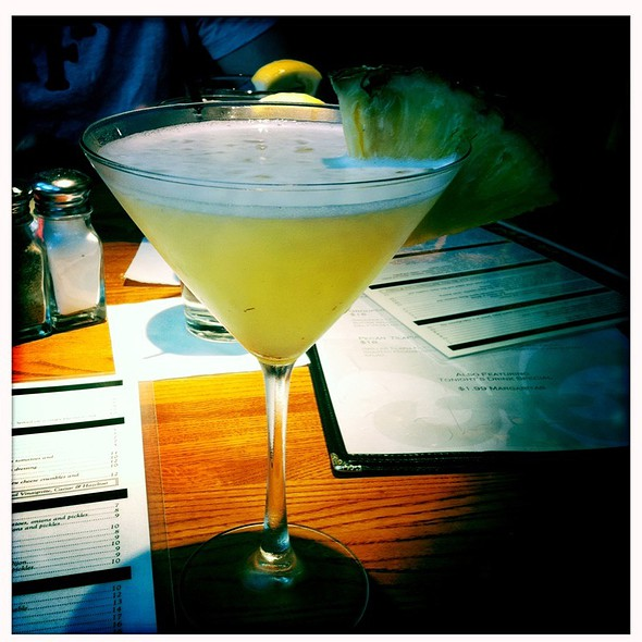 Pineapple martini @ Capital City Grill