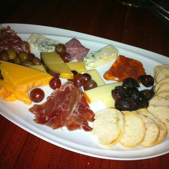 Meat, Cheese, and Olive Platter @ The Vine Restaurant and Wine Bar