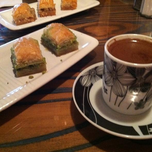 Baklava And Turkish Coffee - ABA Turkish Restaurant, New York, NY