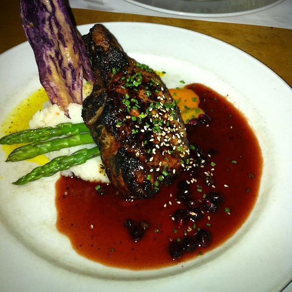 Niman Ranch Pork Chop With Pomegranate Currant Sauce @ The House