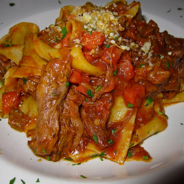 Home Made Pappardelle Pellegrini, Ribbon pasta with short rib ragû - Piazza Pellegrini, San Francisco, CA