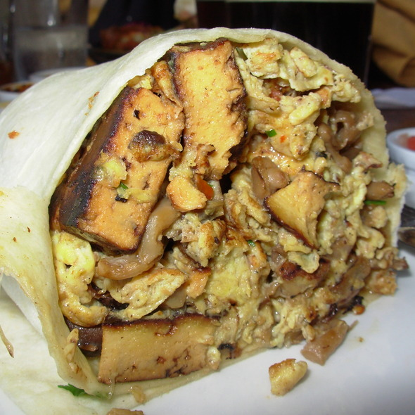 vegetarian breakfast burrito @ Stone Brewing Co.