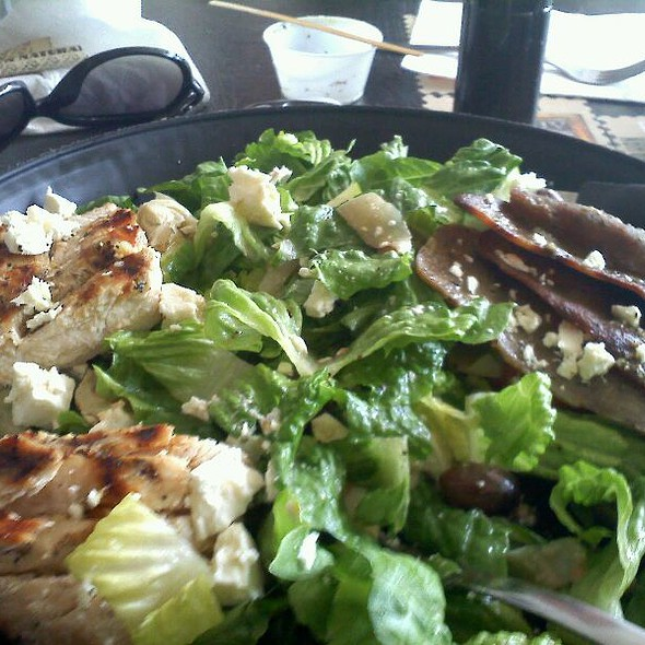 Gyro Salad With A House Lemon Vinaigrette And Added Grilled Chicken