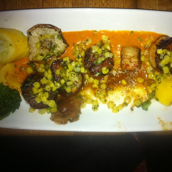 Blackened Scallops With Corn Relish - Rick's Cafe Boatyard, Indianapolis, IN