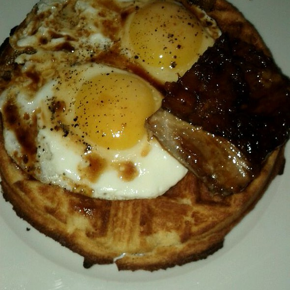 Pork Belly And Cornmeal Waffle