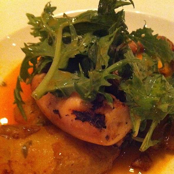 Octupus With Chorizo Sauce, Fingerlings And Capers @ Colonie