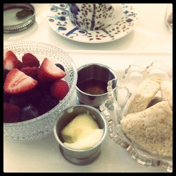 Homemade Scones @ Hotel Saint Cecilia