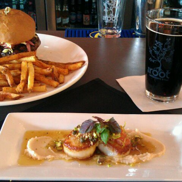 Grass Fed Burger - The Root Restaurant & Bar, White Lake, MI