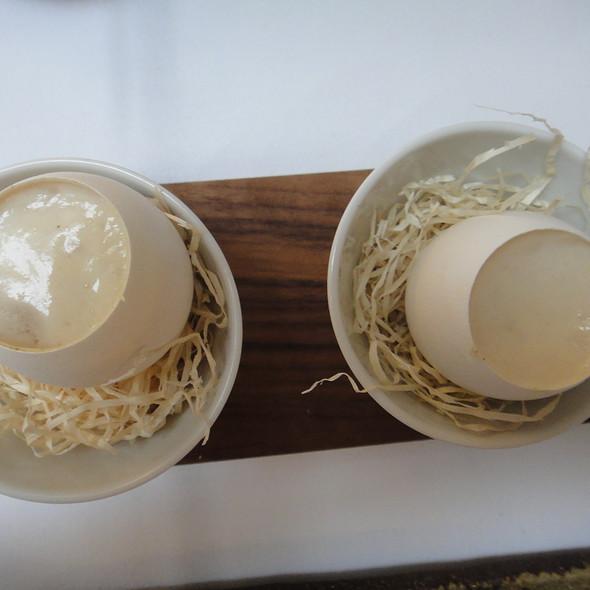 Scampi, Quail Egg, Ham Espuma @ Nagaya