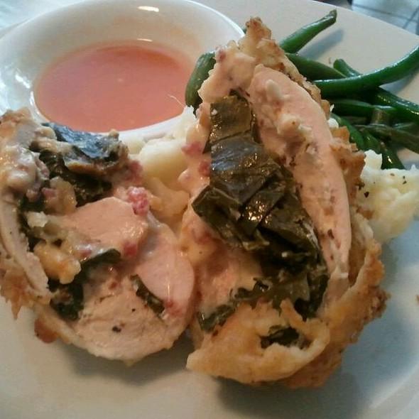 Fried Chicken Stuffed w/ Gouda @ Poogan's Porch