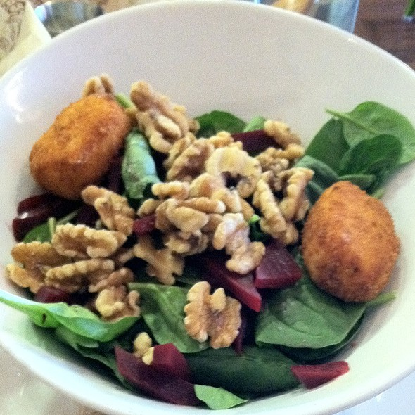 Fried Goat Cheese And Beet Salad @ BareBurger