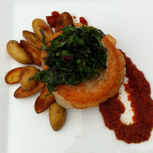 Salmon with Fingerling Potatoes - Pond House Cafe, West Hartford, CT
