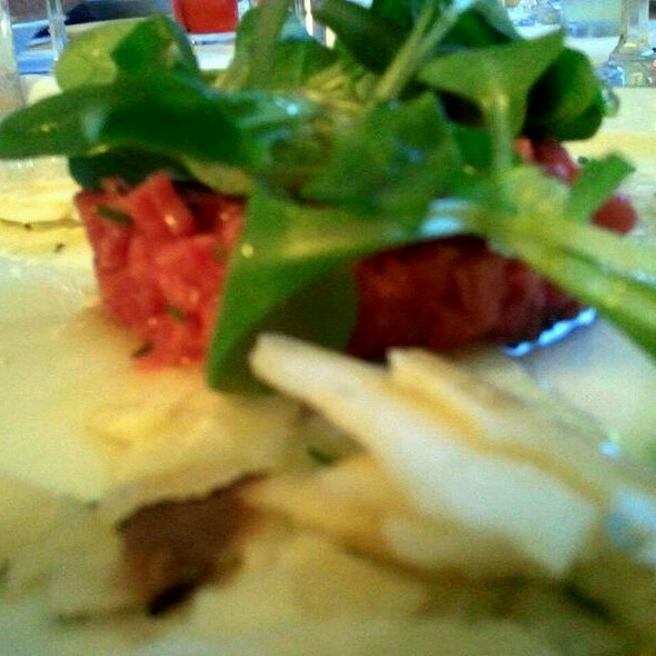 Beef Tartare with Truffles and Parmesean  @ Barolo Restaurant