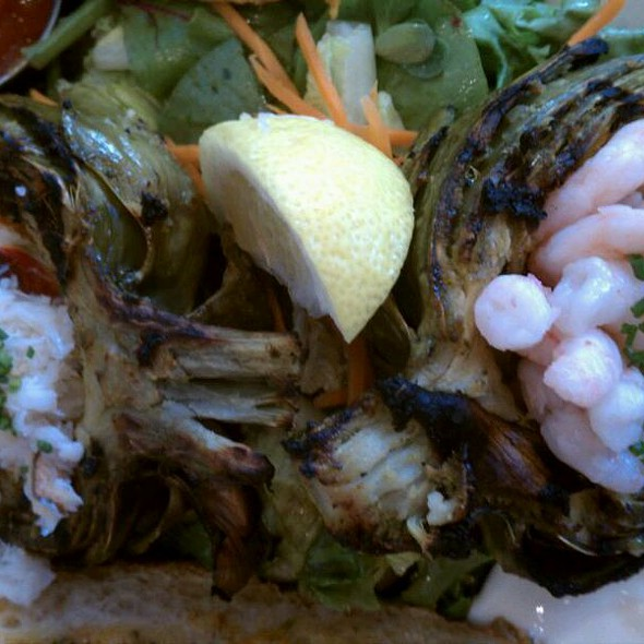 Crab And Shrimp Stuffed Artichoke  @ Woodhouse Fish Co.